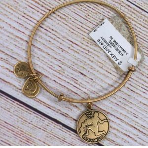 New Alex and Ani Gold Bracelet Aquarius Charm